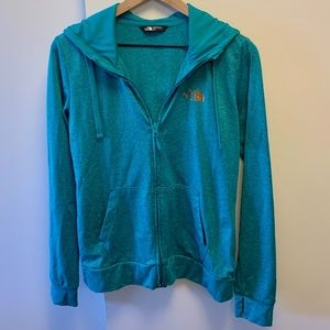 The North Face Teal Zip Up
